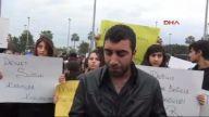 (görüntülü Haber) 2- Mersin'de Öğrenciler Okuldan Önce Özgecan Çinayetini Protesto Etti
