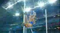 yüksek atlamada sporcunun Şansız anı