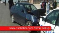 trafik kazası 3 ü polis memuru 4 kişi yaralandı