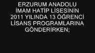 Erzurum Anadolu imam Hatip Lisesi 2011-2013 YGS-LY