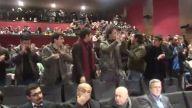 TGB'liler AKP panelinin kürsüsünü işgal etti