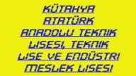 Kütahya Atatürk Anadolu Teknik Lisesi, Teknik Lise