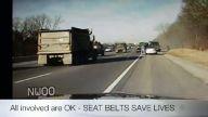 Polis kamerasından kaza görüntüsü