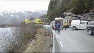 Cesur helikopter pilotu otoyol kenarındaki korkulu