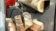 Odun kesme ve yarma makinası