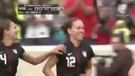 Kadın futbolcunun 35 metreden mükemmel golü