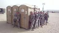 Askerlerin korkudan saklanma tatbikatı