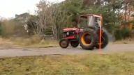 Traktör ile mükemmel gösteri