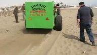 sahil plaj kum eleme temizleme makinası