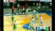 basketbol musabakasında kavga