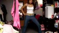 güzel kızdan dans show