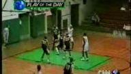 inanılmaz bir basket tam çıkarken