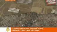japonya' da tsunami kıyıdaki evleri böyle yuttu!