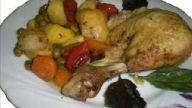 firinda garnİtürlü tavuk