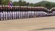 Tayland Askerlerinden güzel bir Gösteri