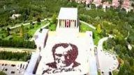 Dünyanın En Büyük Atatürk Portresi Anıtkabir 2014 [HD]
