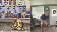 Street Fighter'daki Karakterlerin Hareketlerini Birebir Yapan Baba