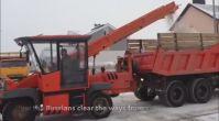 Ruslardan ilginç Kar Temizleme Aracı