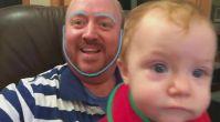 Yüzlerini Değişen Baba-Oğul'un Eğlenceli Anları