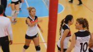 Ünilig Bayan Voleybol Final Maçında Kızların Kavgası