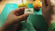Portakal ve Elmayla Çalışan Saat