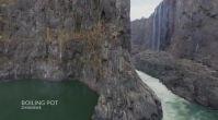 Dünyanın En Görkemli Şelalesi Victoria Şelalesi'nden Atlayış