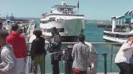 Turistlerin Bulunduğu Rıhtıma Gemi Böyle Çarptı!
