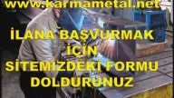 Demir Doğramacı İş eleman usta personel ilanı ilanları İstanbul Esenyurt Hadımköy Kirac-KARMA METAL