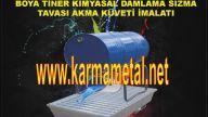 Boya Tiner teneke kutusu yanici madde depolama sizma toplama kuveti taban tavasi imalati KARMA METAL