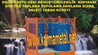 Dökünü çevreleme güvenlik kapları Sıvı Atık yağ toplama küveti KARMA METAL