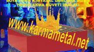 Paslanmaz çelik kimyasal toplama küveti Raflar için asılabilir ızgaralı taban paletleri KARMA METAL