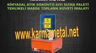 Tank için atık döküntü yağ toplama paleti Hazneli varil döküntü sınırlama kuvetleri KARMA METAL...