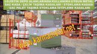 KARMA METAL İstiflenebilir paslanmaz metal tasima kasalari Depolama sandıkları Euro sac paletler