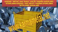 KARMA METAL-Sac istifleme kasaları Taşıma ekipmanları Eğimli taşıma kasası metal kasa
