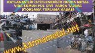 Katlanabilir çelik kasa Metal palet ve taşıma kasaları Demir Palet Taşıma Kasaları KARMA METAL
