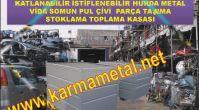 Katlanabilir çelik kasa Metal palet ve taşıma kasaları Demir Palet Taşıma Kasaları KARMA METAL...