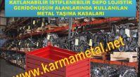 Metal Taşıma Paleti Metal toplama Kasası istifleme kovalari KARMA METAL