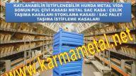 KARMA METAL-Lojistik depo santiye istiflenebilir katlanabilir metal taşıma kasası sandıkları fiyatı