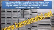 Karma Metal- ust uste istiflenebilir katlanabilir metal kasa çeşitleri taşıma stoklama paleti sandıkları imalati