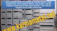 Karma Metal- ust uste istiflenebilir katlanabilir metal kasa çeşitleri taşıma stoklama paleti sandık...