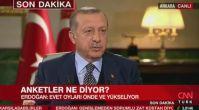 Cumhurbaşkanı Erdoğan'dan referandum anket sonucu