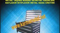 KARMA METAL- Katlanabilir İstiflenebilir Metal palet ve taşıma kasaları