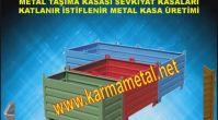 KARMA METAL- Katlanabilir Taşıma Kasası Katlanabilir Metal Sandık TAŞIMA KASALARI