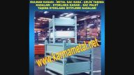 KARMA METAL-Metal taşıma kasası istifleme sandıkları Paslanmaz çelik ısıl işlem sepetleri Metal Sac Tasima Kasalari