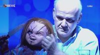 Ahmet Çakar programa Chucky ile çıktı ortalığı salladı