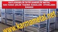 KARMA METAL-Endustriyel Tasima ve Istifleme Ekipmanlari Metal Palet Sac Palet Yedek Parca Tasima Kasalari Rulo Sac Paleti