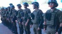 Ukrayna polisinden Türkiye maçı öncesi tatbikat