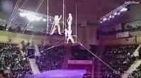 Sirk gösterisinde korkunç kaza! O anlar kamerada