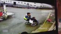 Rusya'da inanılmaz kaza! O anlar böyle görüntülendi