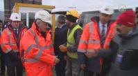 Başbakan Yıldırım, yapımı devam eden Çanakkale Köprüsü'nü inceledi